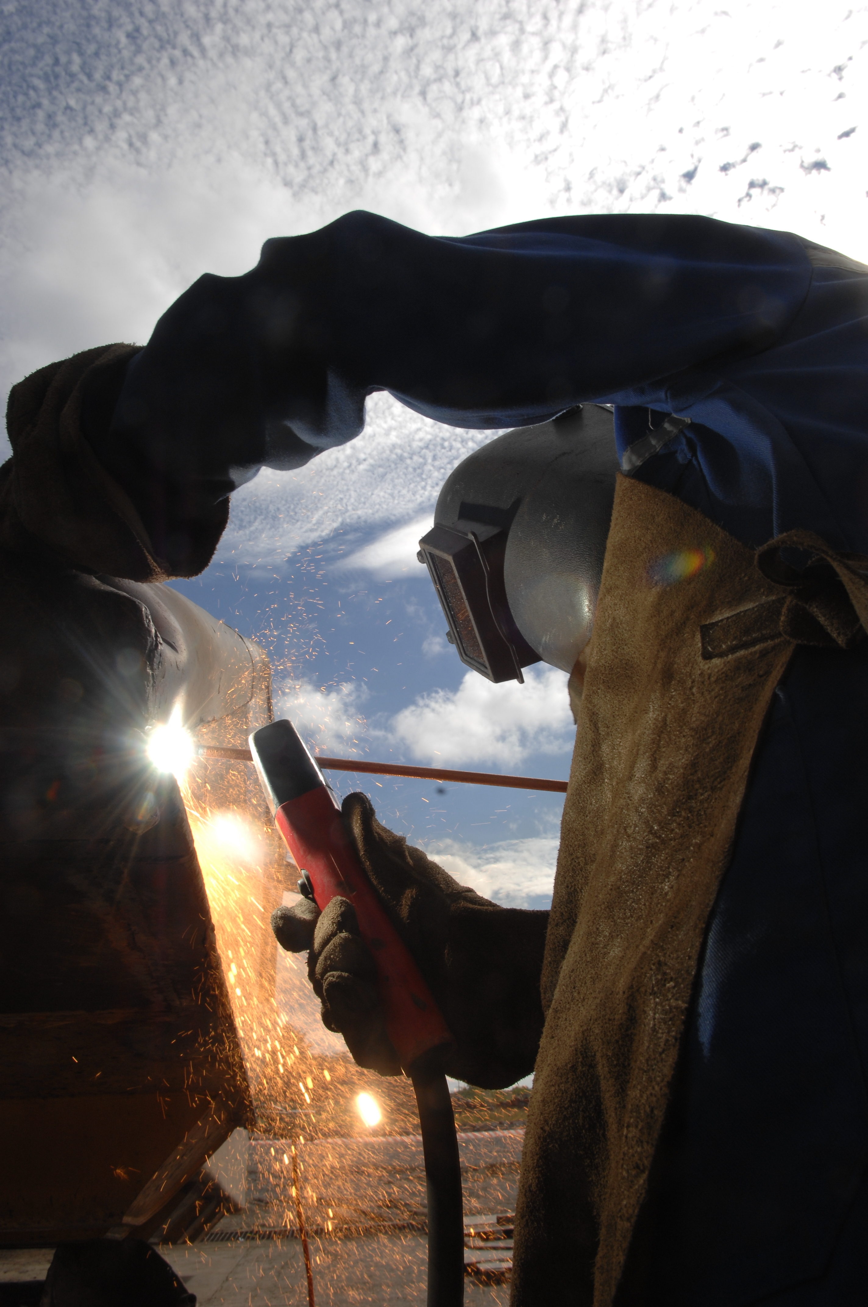 Welding at the mine.JPG